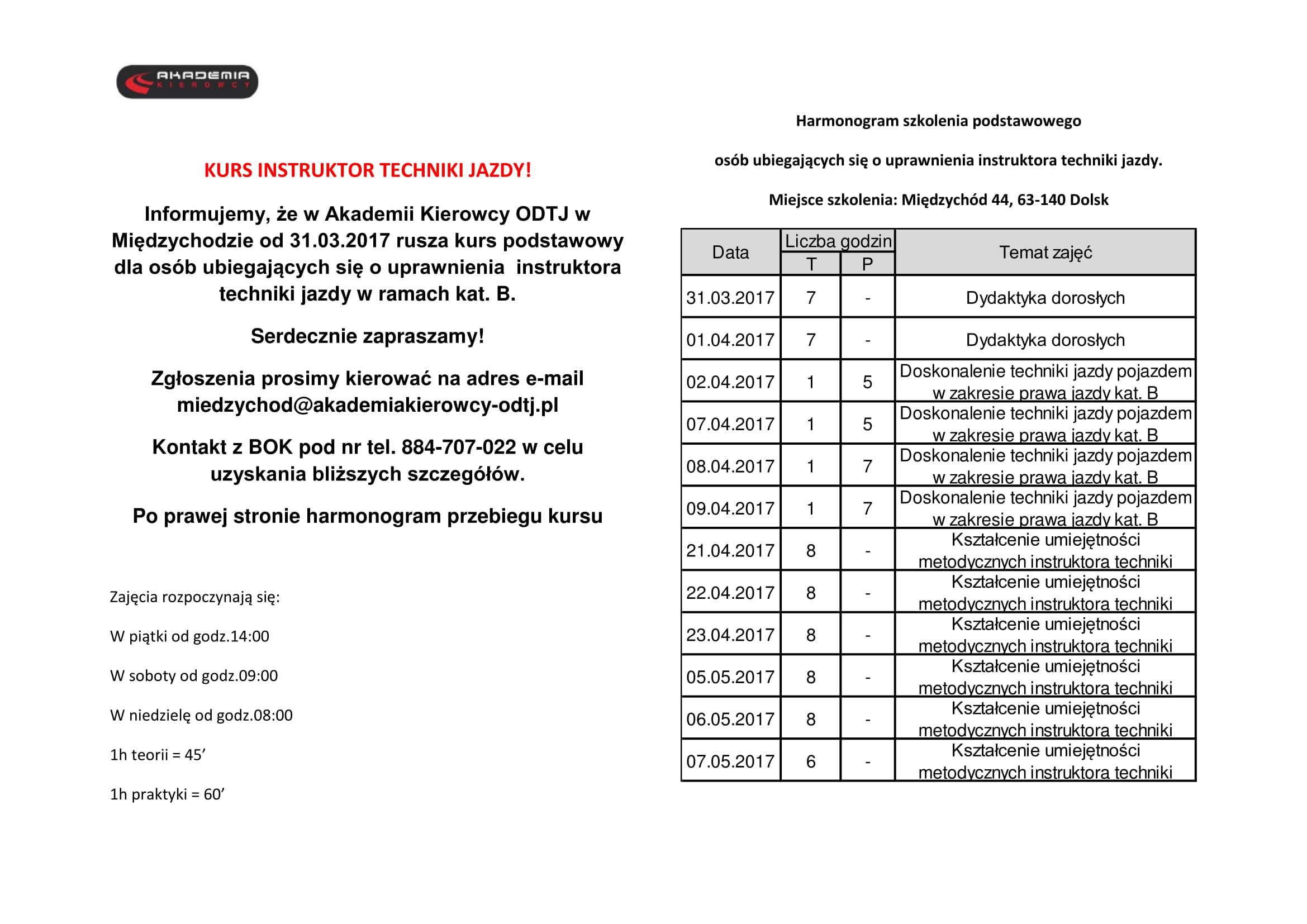 KURS INSTRUKTOR TECHNIKI JAZDY-1